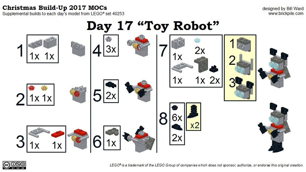 "Christmas Build-Up 2017 Day 17 MOC ""Toy Robot"" Instructions"