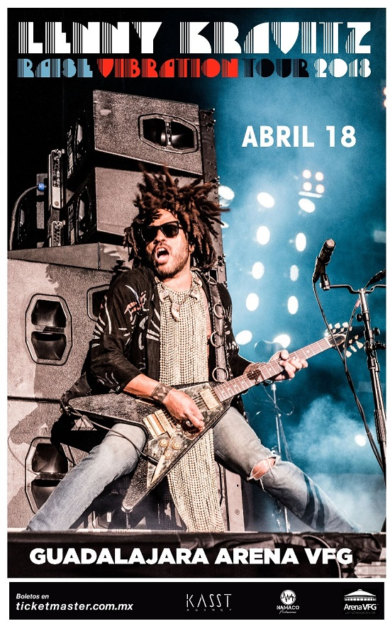 LENNY KRAVITS – 18  de abril. Arena VFG