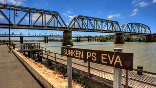 Murray Bridge Sunken Boat