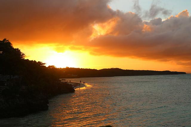 Cuba sun set