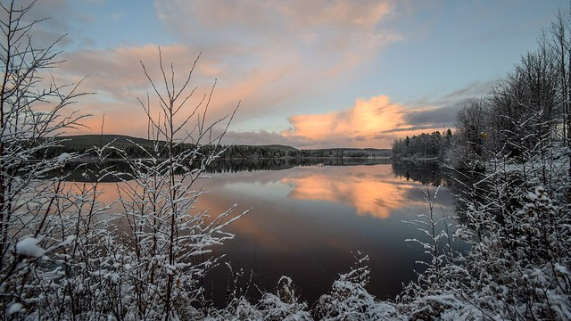 Sunset on Watson lake