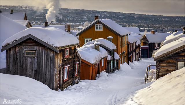 Winter in the village, Røros, Norway