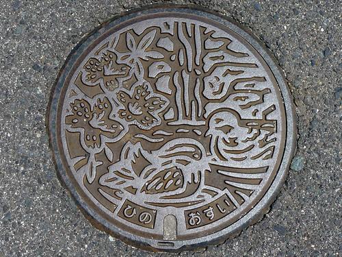Hino Tottori, manhole cover 2 (鳥取県日野町のマンホール2)