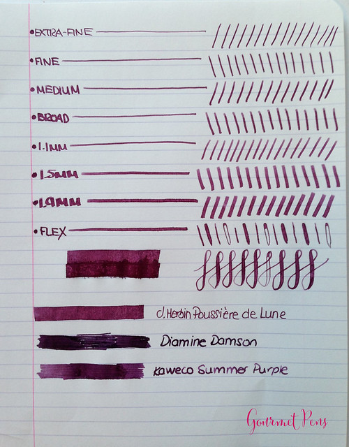 Ink Shot Review J. Herbin Poussière de Lune @KnightsWritingC 4