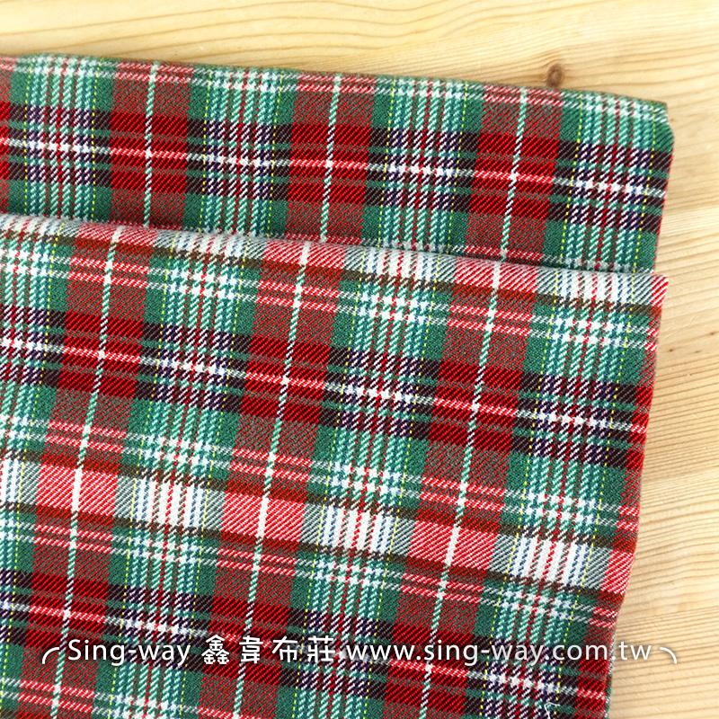 【震撼價】紅綠格子 耶誕格紋 襯衫洋裝服裝布料 FC790041
