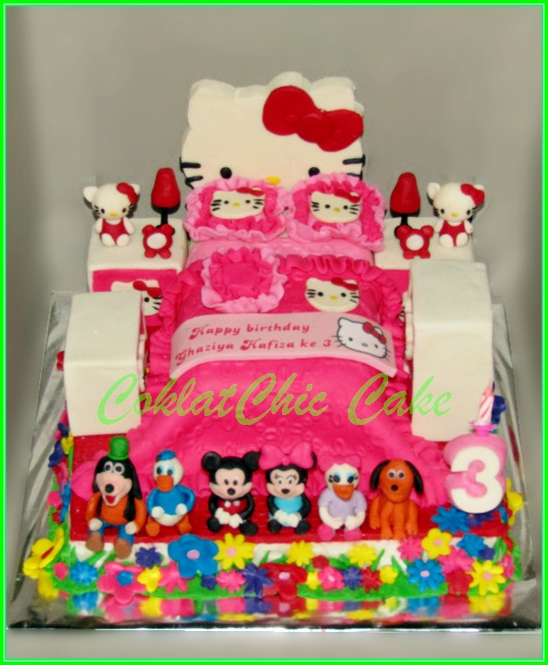 cake Hello Kitty Bedroom Ghaziya 15cm