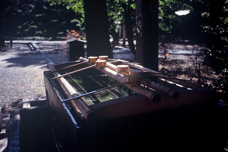 KONICA HEXAR RF+Voigtlander Color Scopar 35mm f2.5根津神社の手水舎