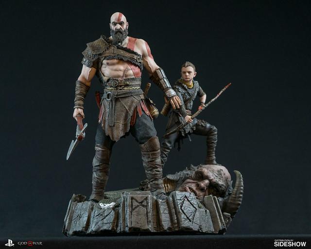 父子共同出擊!!《戰神》奎托斯&阿特柔斯 God of War Kratos&Atreus 1/6 比例全身雕像作品