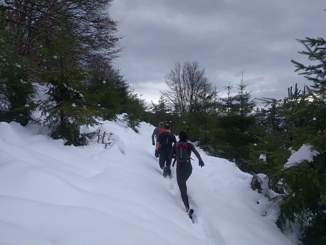 Aprovechando la nieve por la zona: Karakate-Irukurutzeta una vez más
