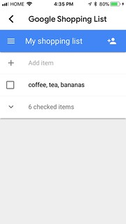 Unsuccessful attempt to get Google Home to add multiple items to my shopping list at the same time