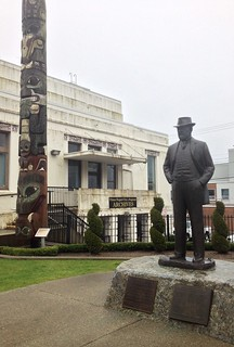 Charles Melville Hays Statue and Totem Pole (Prince Rupert, BC, Canada)