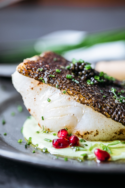 Pan-Roasted Sea Bass