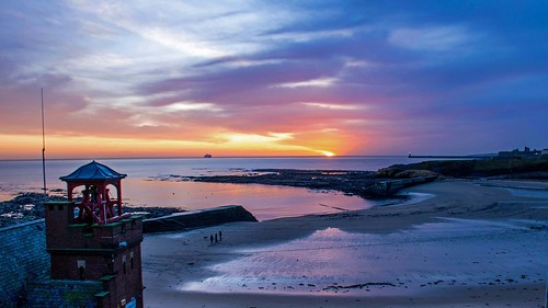 Sunrise over Cullercoats Bay