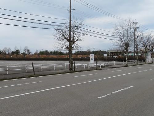 金沢競馬場のD駐車場
