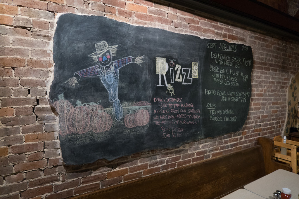 Interior of Rizz's Restaurant