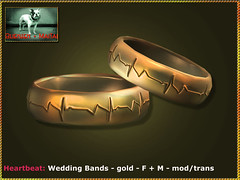 Bliensen - Heartbeat - Wedding Bands - gold - F+M