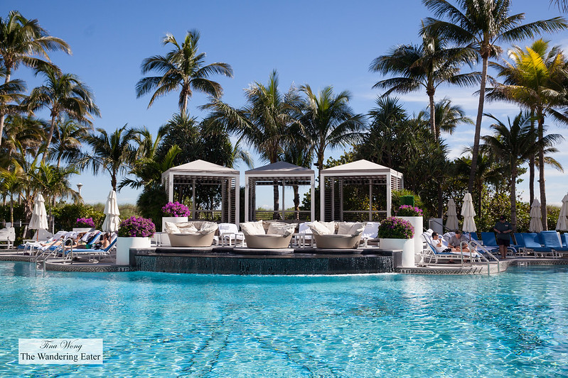 Adult only cabanas by the pool