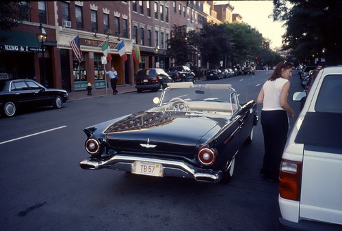 1957 Thunderbird on Charles Street, Boston - Kodachrome - 2001