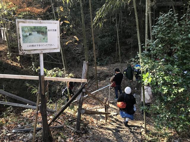 愛岐トンネル群 竹林広場 戻り口