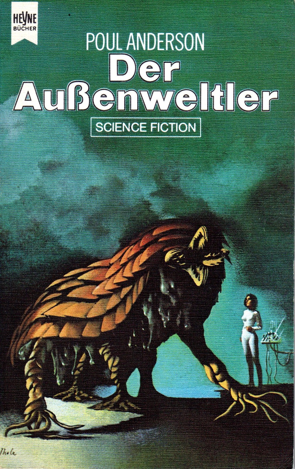 "Karel Thole - Cover for ""The  Byworlder"" by Poul Anderson, 1971"