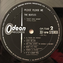 THE BEATLES:PLEASE PLEASE ME(LABEL SIDE-B)