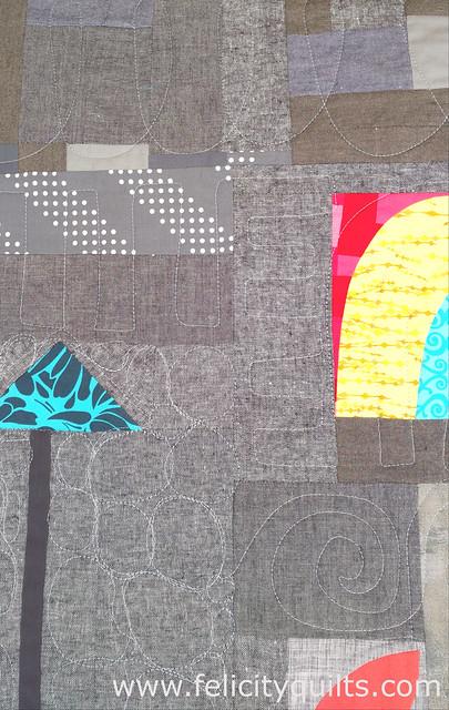 Round Robin Quilt quilting detail
