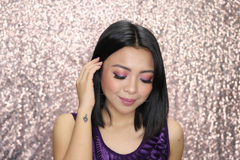 1 New Year's Glam Makeup Look 2018 Ultra Violet - Gen-zel She Sings Beauty