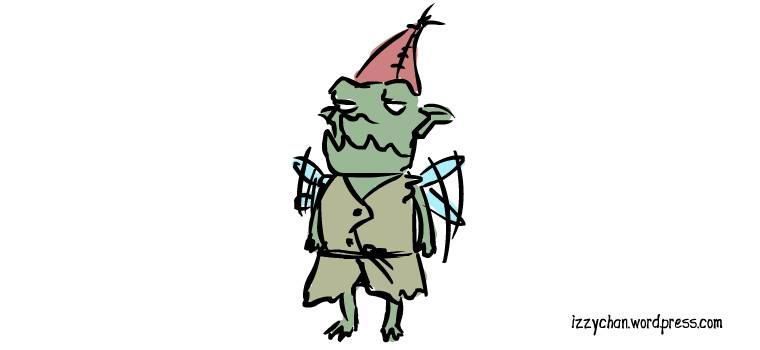 green fairy guy with red cap