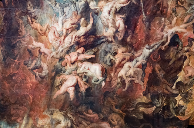The Fall of The Damned (detail )