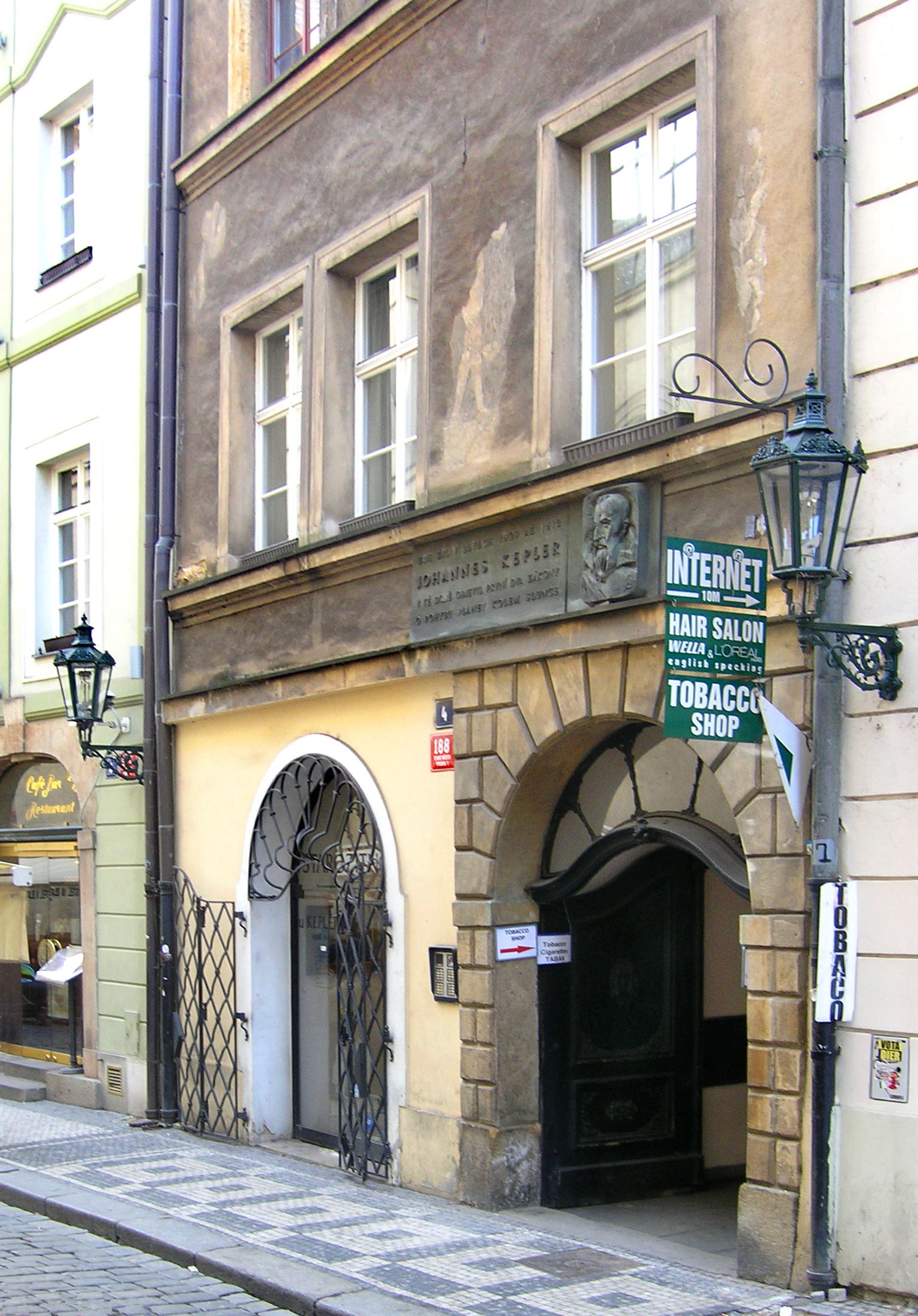 Karlova street in Old Town, Prague – house No.4 where Johannes Kepler lived