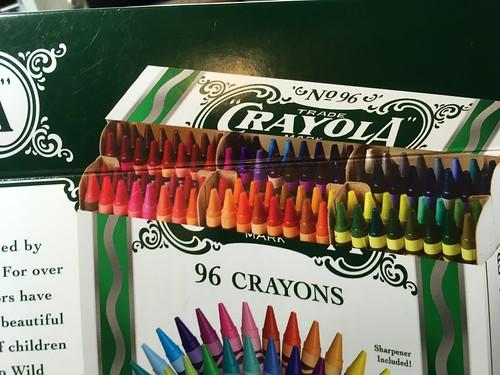 Crayola No 96 crayons box