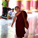 A Young Novice Monk At A Temple In Mandalay, Burma