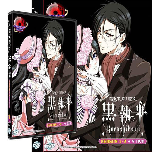 Black Butler -Kuroshitsuji Season 1 to 3 and 9 OVA