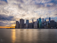 Long Sunset Over Lower Manhattan