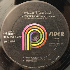 KINGS ROAD:TODAY'S T.V. HITS(LABEL SIDE-B)