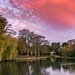 Red Sky Over The Boating Lake