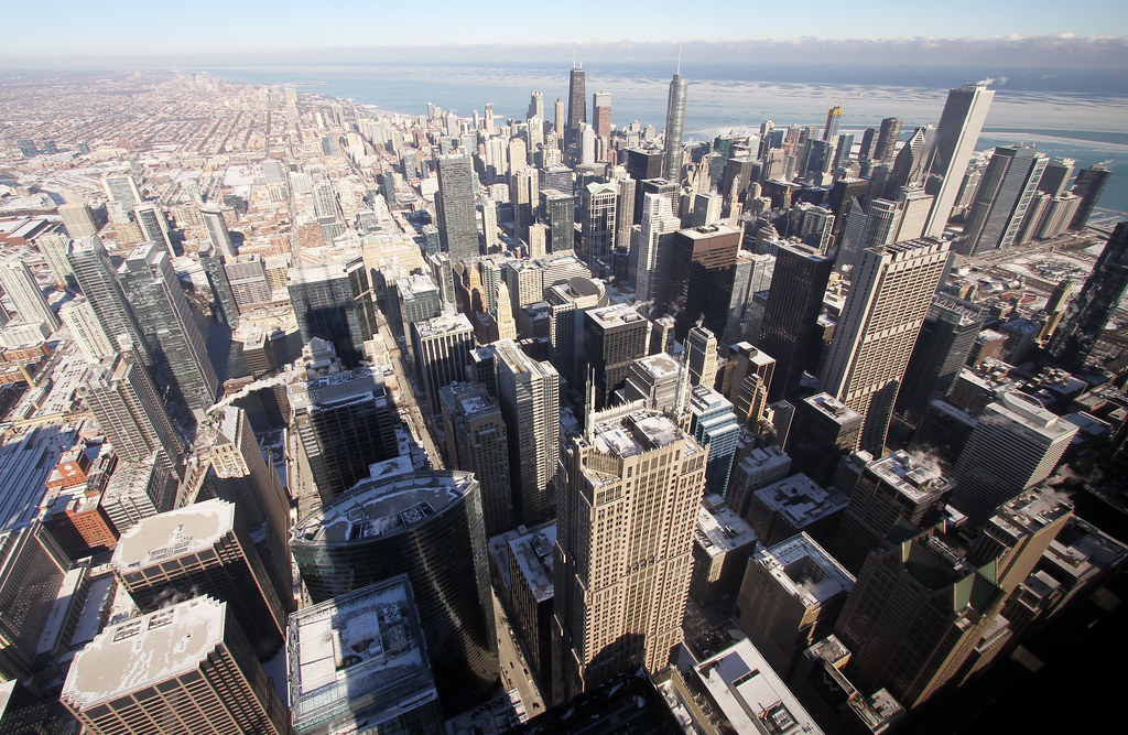 Seen from Willis Tower, Chicago