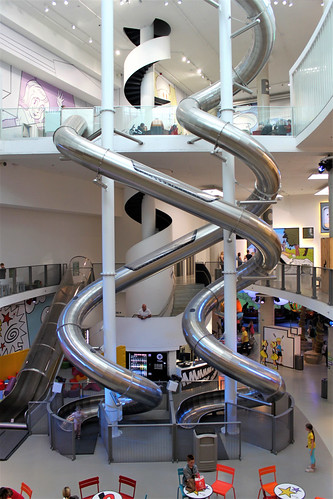 two high indoor slides