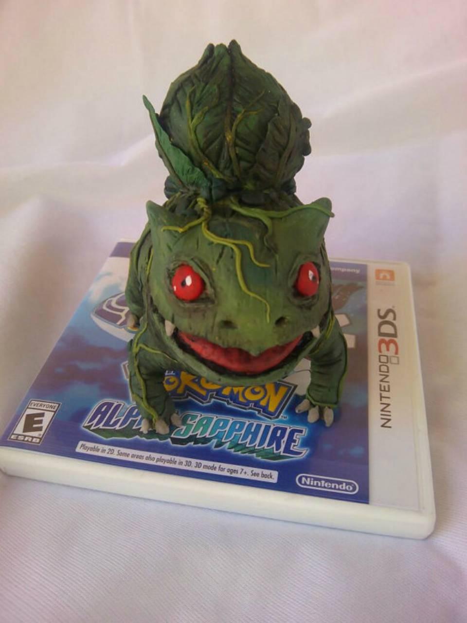 Fan fabrica muñeco realista de Bulbasaur (Pokémon)