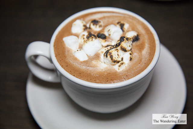 Mexican hot chocolate, tequila, milk, toasted marshmallows