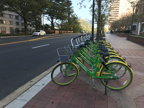 LimeBikes on East-West Highway