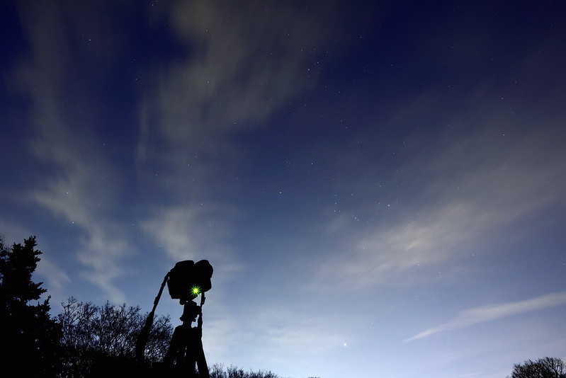 Shooting the Gemini meteor shower