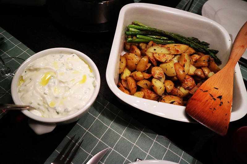 potatos and tzatziki