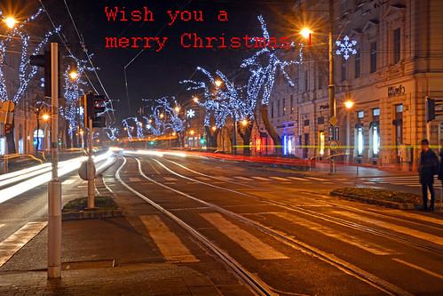 City Lights around Christmas