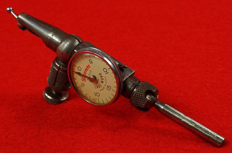 RD19916 Vintage Starrett 711-F Last Word Dial Indicator In Original Case with Label DSC03172