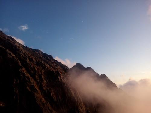 YOSHIKIは明日行く奥穂を一人で登りに行った