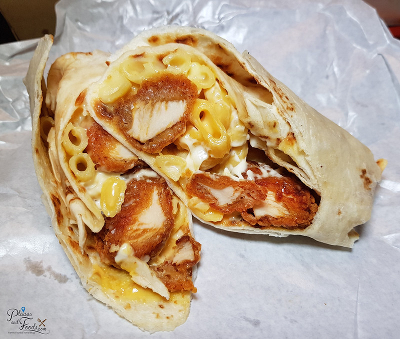 tgv chill x wrap chicken and mac
