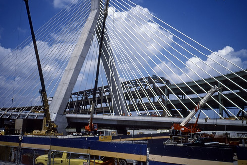 Zakim Bridge Under Construction - Kodachrome - 2001 (2)