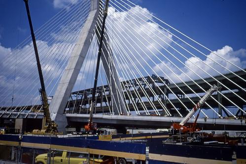 Zakim Bridge Under Construction - Kodachrome - 2001 (2)