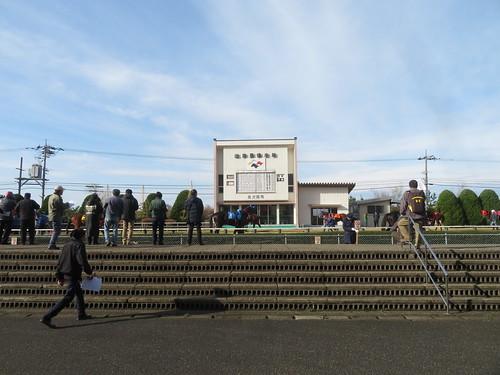 金沢競馬場のパドックのブロック